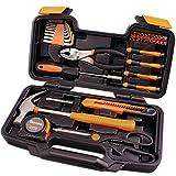 CARTMAN Orange 39-Piece Tool Set - General Household Hand Tool Kit...