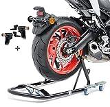 Caballete trasero peana aparcamiento moto ConStands Mover black para Suzuki DR 125 SM, DR 350 S/SE, DR 650 R/RE, DR 650 RSE, DR 650 SE