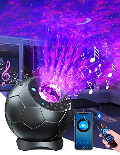 Lupantte Proiettore Stelle,Lampada Proiettore di Stelle Rotazione di 360,30 Effetti di Luce Proiettore Galassia con 3D-Giocatore,Timer,Proiettore Stelle Bambini per Decorazione/Regalo/Luce Notturna