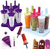 HelpCuisine® Molde para Helados/Moldes de Polos - Juego de Seis Unidades sin BPA y Aprobado por FDA. 24 Meses de Garancia! (Verde)