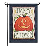 LAYOER 12.5X 18 Inch Home Garden Flag House Double Sided Happy Halloween Pumpkin (13 x 18 Inch)