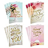 Hallmark Assorted Birthday Greeting Cards, Pretty Pinks