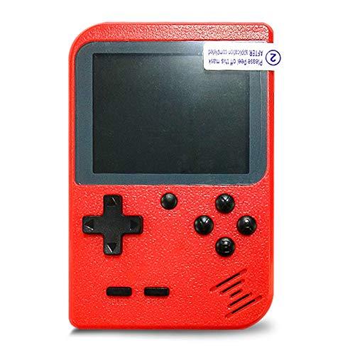 Flybiz Console di Gioco Portatile, Console retr FC, Console di Gioco Retro LCD Classico da 3,0 Pollici, 400 Giochi Retro FC Game Player Console per Videogiochi con Carica USB per Bambini Amici(rosso)