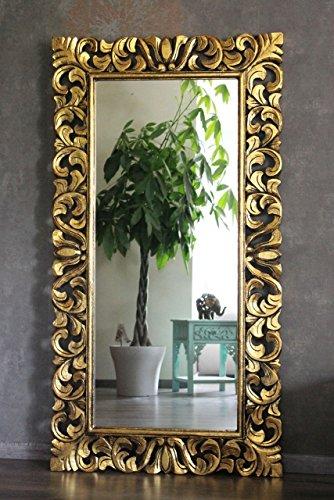 Naturesco Eleganter Barockspiegel Massiv Holz Gold antik 120cm x 80cm Hoch- und Querformat