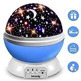 Moredig Lampara Proyector Infantil, 360° Rotación y 8 Modos Iluminación Proyector de Estrellas,...