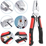 Glarks 8'' Heavy Duty Screw Extraction Plier for Extract and Remove Damaged Stripped Rusted Corroded Stuck Screw