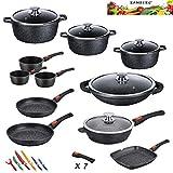 Kamberg - 0008162 - Set Lot Batterie de cuisine 27 pièces -...