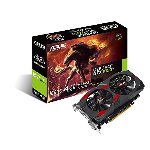 ASUS Cerberus GeForce GTX 1050 Ti Advanced Edition 4 GB GDDR5, Scheda Video Gaming per Gaming HD e eSport