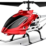 RC Helicopter, S37 Aircraft with Altitude Hold, 3.5 Channel, Sturdy Alloy Material, Gyro Stabilizer and High &Low Speed, Multi-Protection Drone for Kids Toys and Beginner to Play Indoor-Red