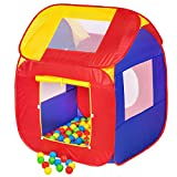 TecTake Tente de Jeux pour Enfants | Pop Up Tente | INCL. 200 balles + Sac...