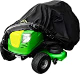 Family Accessories Riding Lawn Mower with Bagger Cover, 100% Waterproof Heavy Duty 600D Storage for Lawnmower Tractor with Attachment