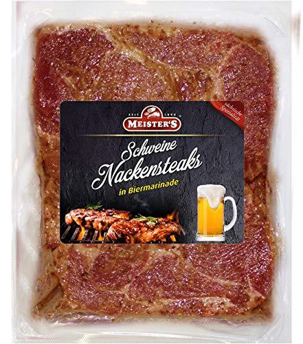 Bautzner Steak Fleisch   Mariniertes Grillfleisch mit Biermarinade   Frisches Steakfleisch für Grill und Pfanne Bier 600 GR