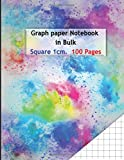 Graph paper Notebook in Bulk Square 1cm. 100 Pages: With Squared ( 1mm/ Squares ) Composition Notebooks Journals Quad Square Notepads Books 8.5 X 11 ... notes cover Full color Art Pattern design
