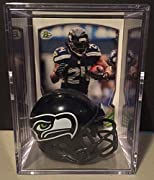 Seattle Seahawks Marshawn Lynch Collect them all NFL mini helmet shadowbox Limited Edition keepsake Great for fantasy football display