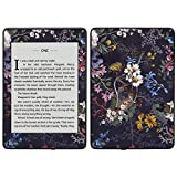 MightySkins Skin Compatible with Amazon Kindle Paperwhite 2018 (Waterproof Model) - Midnight Blossom | Protective, Durable, and Unique Vinyl Decal wrap Cover | Easy to Apply, Remove| Made in The USA