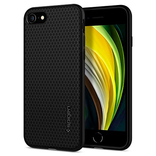 Spigen iPhone SE ケース [第2世代] / iPhone 8 / iPhone 7 対応 新型 TPU ソフトケース 耐衝撃 米軍MIL規...