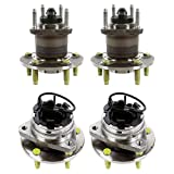 AutoShack HB216-287 Set of 4 Wheel Bearing Hub Front and Rear Wheel Hub Bearing and Assembly 5 Lugs with ABS Replacement for 2008-2010 Chevrolet HHR 2004-2012 Malibu 2005-2010 Pontiac G6