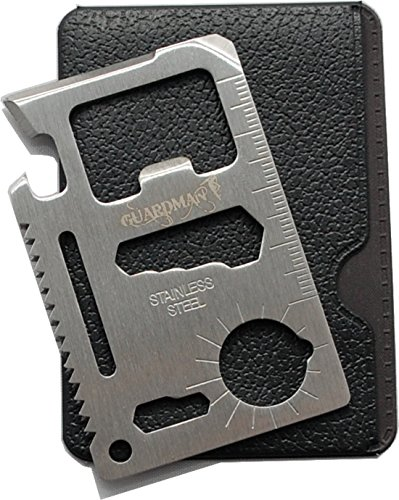 Guardman 11 in 1 Beer Opener Survival Credit Card Tool Fits Perfect in Your Wallet (1) Valentines Day Gifts for Men Under 10 Dollars