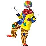 Fun World Men's Big Top Clown Costume, Multicolored, One Size