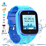 Vowor 4G Smartwatch for Kids with Sim Card, Waterproof Phone Watch with WiFi LBS GPS Tracker Video Chat SOS Camera Alarm Clock Anti Lost Watches Children Boys Girls Birthday Gift Age 3-15 (Blue)