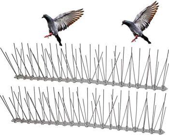HelpAccess® Répulsif anti-pigeons et anti-pigeons en plastique, répulsif contre les oiseaux (5 mètres x répulsif anti-pigeons)