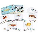 Symiu Montessori de Madera 140 Piezas Aprender a Leer con Letras Números Tarjetas Juguetes Puzzle JuegoEducativo para Niños Niñas 3 4 5 6 Años