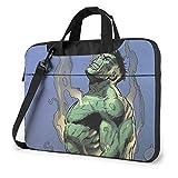 Bolsa para portátil de 15,6 Pulgadas Que Pinta la Manga de la Caja del Bolso del Mensajero del Hombro de la Cartera del Ordenador portátil de Hulk