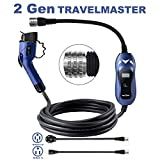 MUSTART TRAVELMASTER Level 2 Portable EV Charger, 2-Gen, 25ft Cable, Intelligent Plug Identification Auto-Adjusts Maximum Safe Current 15A/25A/32A Electric Vehicle Plug-in Charging Station