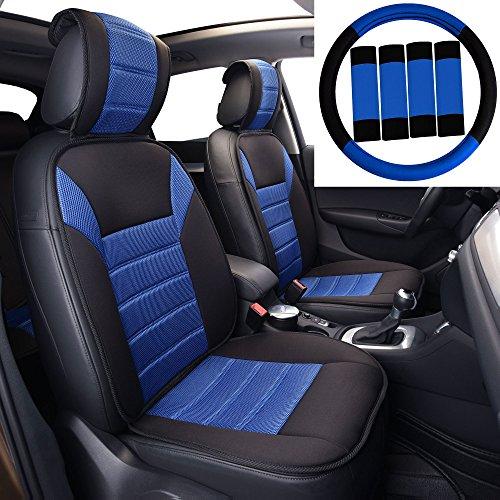 FH Group FB201102 Premium Car Seat Cushions (Blue) Front Set – Universal Fit for Cars Trucks & SUVs