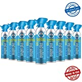 Oxygen Plus 99.5% Pure Recreational Oxygen Cans Filled in FDA-Registered Facility - Restore Oxygen Levels w/Oxygen Supplement, 11 Liter Portable Oxygen Canisters for Natural Energy (9-Pack)