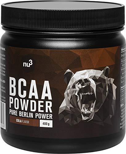 nu3 BCAA en polvo - 400 g sabor chispeante cola - 40 porciones de...