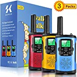 Walkie Talkies for Kids 3Pack, 22 Channels 2 Way Radio Toy, Kids Talks Toy for 3-12 Year Old Boys Girls Gift, 3 Miles Long Range for Outdoor Camping Game