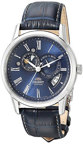 Orient Herren Analog Automatik Uhr mit Leder Armband FET0T004D0