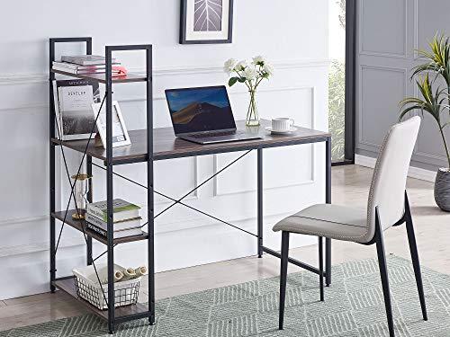 VINEXT Computer Desk with Bookshelf, 47' Home Office Desk Modern...