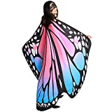 SIPU Butterfly Wings for Women, Monarch Soft Butterfly Fabric Shawl Fairy Wings Cape Halloween Decor Costume Accessory with Lace Mask