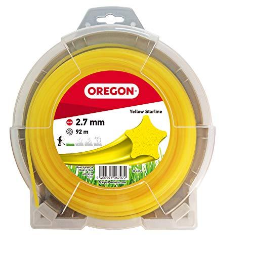 OREGON 69-432-Y Filo per decespugliatore Yellow Star, 2,7 mm x 92 m, 2.7mm x 92m