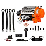 Prowinch Hydraulic Winch Incorporated Roller 20000 lbs. Heavy Duty 12V Wired/Wireless Control