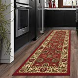 Silk Road Concepts Collection Traditional Rugs, 1'10' x 7', Dark Red