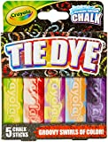 Crayola Washable Tie Dye Sidewalk Chalk, 5 Anti-Roll Chalk Sticks, Outdoor Toy, Gift (Toy)