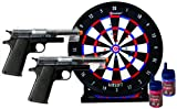 Crosman GameFace ASP311CDK Stinger Spring-Powered Single Shot Airsoft Pistol Challenge Kit with 2 Pistols, Target and BBS, Clear/Black, 4.20 x 14.00 x 14.20