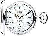 Plata Reloj de Bolsillo Motor parado Medio Cazador 17 Movimiento Jewel