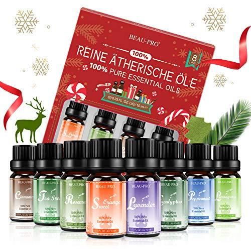 Aceites Esenciales 100% Puros Naturales, 8 * 10ml Set de Aromaterapia Aceites Esenciales...