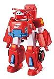 Super Wings- Deluxe Transforming Jett Vehicle, Color Rosso, 7 Pulgadas (Alpha Animation & Toys Ltd EU720311)