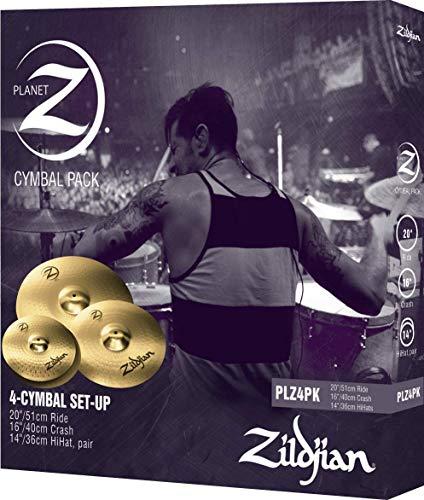 Zildjian Planet Z PLZ4PK 14', 16' and 20' Cymbal Set, 3 Pack