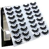 NEW 16 pairs 8-25mm fake Eyelashes 100% Mink Eyelashes Mink Lashes Natural Dramatic Volume Eyelashes Extension False Eyelashes (3DF008)