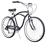 Firmstrong Urban Man Single Speed Beach Cruiser Bicycle, 24-Inch, Black