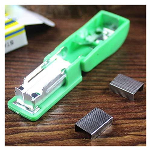 XIAOSHI Cucitrice Portatile Mini Binder Binder Mini Plapler Set Kawaii Staplesler Standary con 50pcs Staples Plastic cucitrice Zenith
