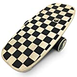 """EasyGoProducts Perfect Balance Board - Wooden Trainer for Fitness, Surfing, Snowboarding, Skateboarding, Skiing and Exercise - 30' X 14' Deck 5/8"""" 9 Ply Board - 4.5"""" X 16"""" Roller"""