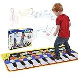 RenFox Tappeto Musicale, Piano Mat Tastiera Danza Stuoia Strumento Musicale 5 modalità e 8 Suoni, Tappeto Musicale Tocco Mat Bambini Educativo Giocattolo(110 * 36 cm)