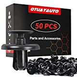 OTUAYAUTO 50PCS Plastic Retainer Clips, Engine Cover Fasteners Clips - Replacement for Lexus & Toyota 2002-2019, Splash Shield Clips Replace OEM: 90467-07201